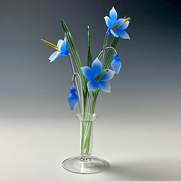 Spring Gentian Blue Frosted Medium
