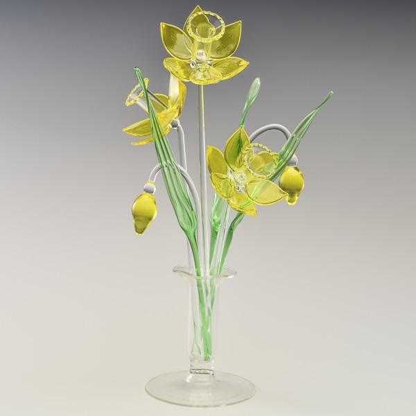Daffodils Yellow Transparent Medium