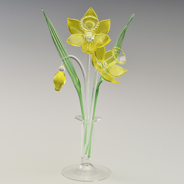 Daffodils Yellow Transparent Small