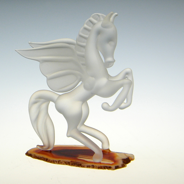 Pegasus Frosted on Agate Small