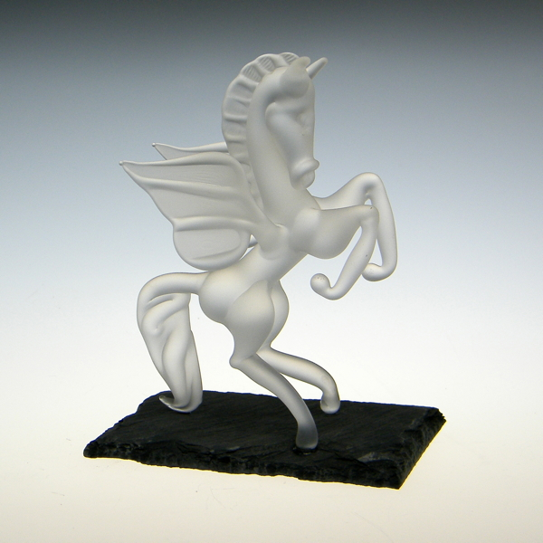 Pegasus Frosted on Slate Small
