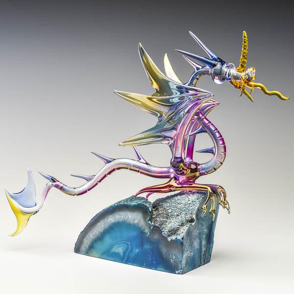 Fantasy Dragon on Agate Large