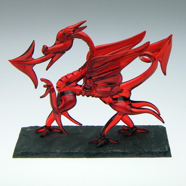 Welsh Dragon on Slate Medium
