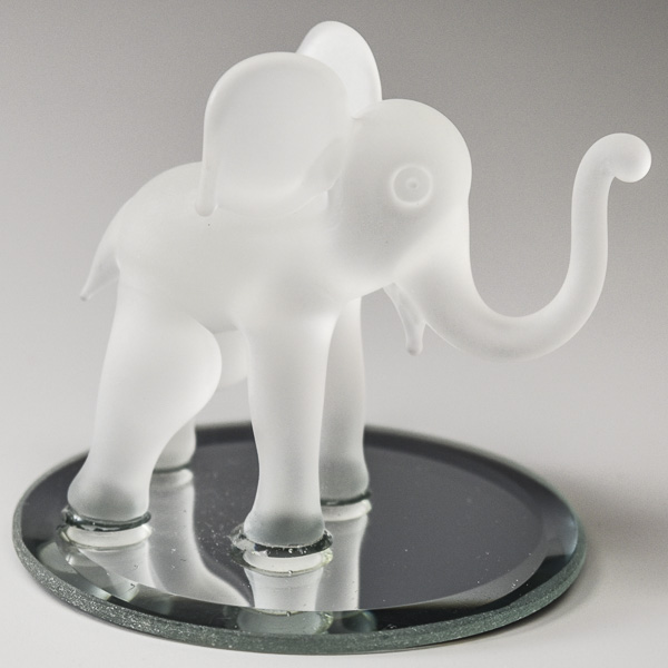 Elephant White Frosted