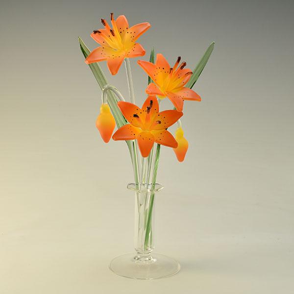Star Gazing Lilies Orange Medium